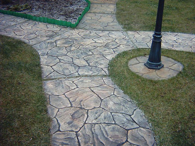 декоративный бетон дорожки