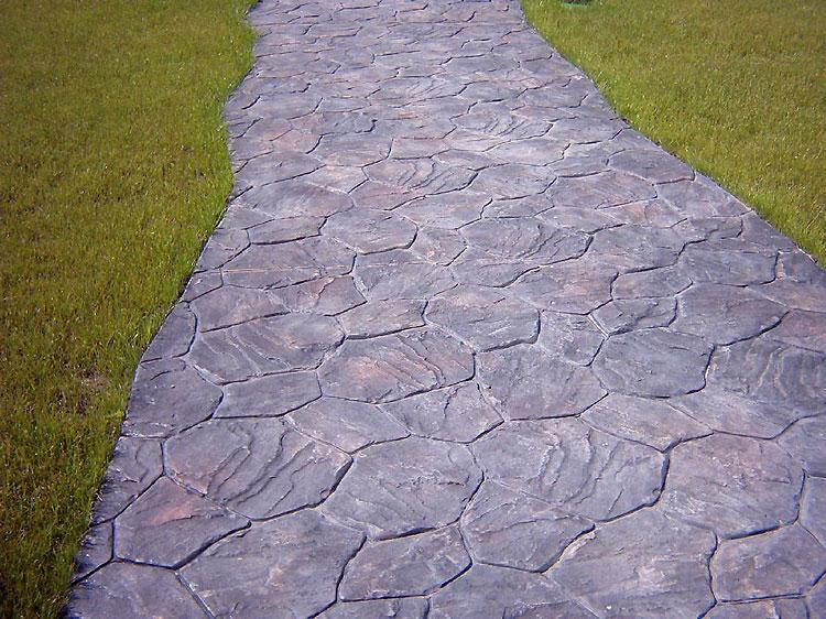 Декоративный бетон дорожки выброшенный бетон